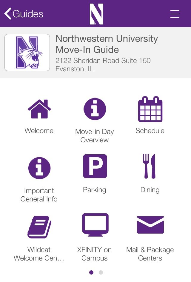 The new NU Events app, introduced by Residential Services this month, updates new students on activities happening around campus and in their residences during Wildcat Welcome. It is free and available for download for iPhones and iPads.