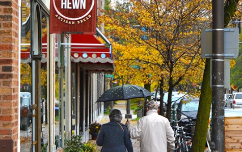 People walk by Hewn, located at 810 Dempster St. The bakery is one of two Evanston businesses that are finalists for the 2014 Martha Stewart American Made Awards, which recognizes places that produce local, homemade goods.