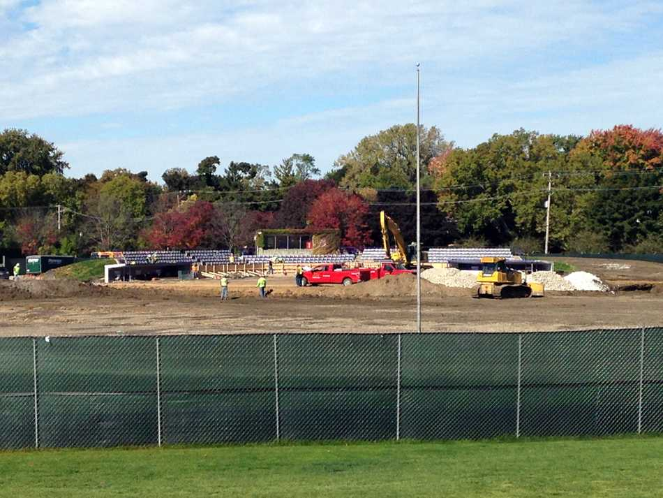 Construction is underway on renovations to Rocky Miller Park. The upgrades will include artificial turf, a clubhouse, expanded dugouts, improved concession stands and new seating for spectators.