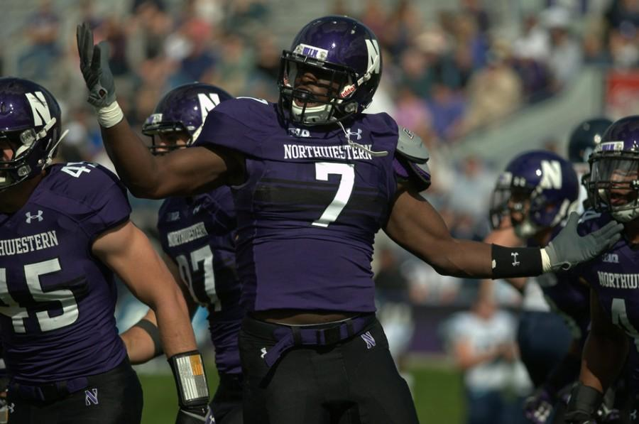 Sophomore+defensive+end+Ifeadi+Odenigbo+is+part+of+a+versatile+Northwestern+defensive+line+that+has+thrived+both+in+pass-rushing+and+against+the+run+in+recent+weeks.