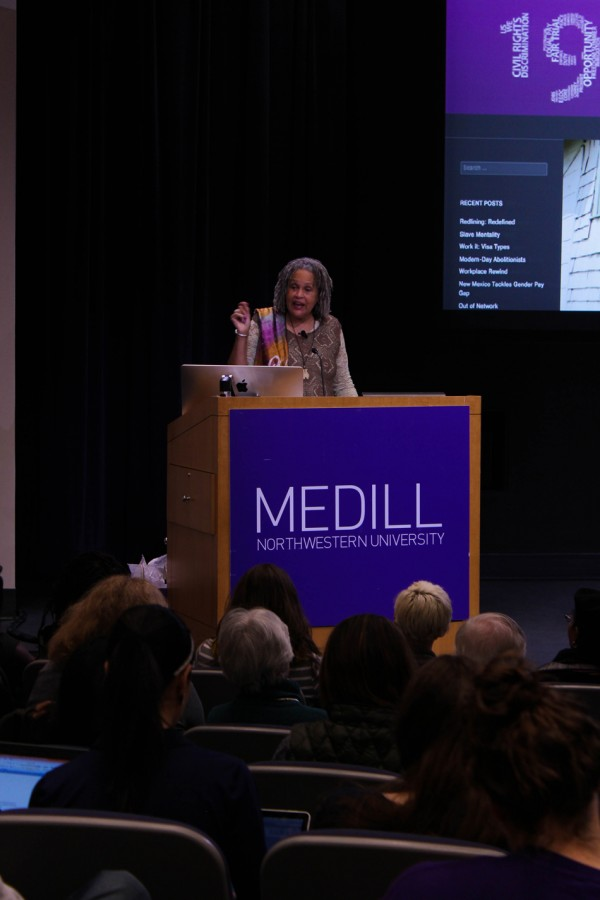 Former+PBS+and+NPR+correspondent+Charlayne+Hunter-Gault+speaks+at+Medill+about+growing+up+in+the+1960s.+Hunter-Gault+was+one+of+the+first+two+black+students+to+enroll+at+the+University+of+Georgia+during+the+civil+rights+movement.+