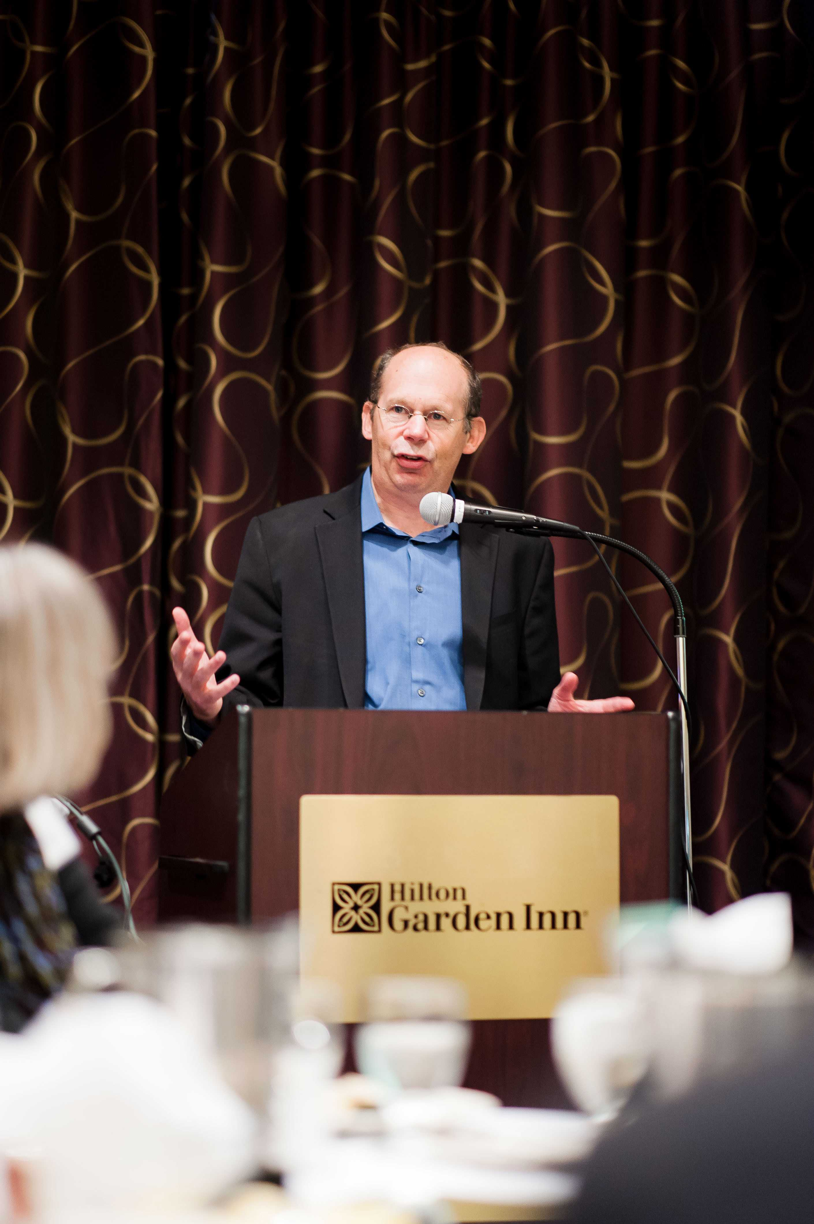 Kotlowitz spoke at the Hilton Garden Inn on Wednesday about youth homelessness. An award-winning journalist, Kotlowitz is also a writer-in-residence at Northwestern.