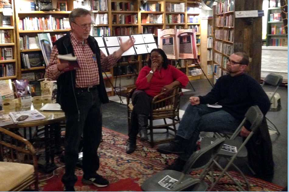 John D'Emilio, prominent LGBT historian, speaks at Bookends & Beginnings on Thursday. The independent bookstore hosted the event, which also included other speakers, in celebration of LGBT History Month.