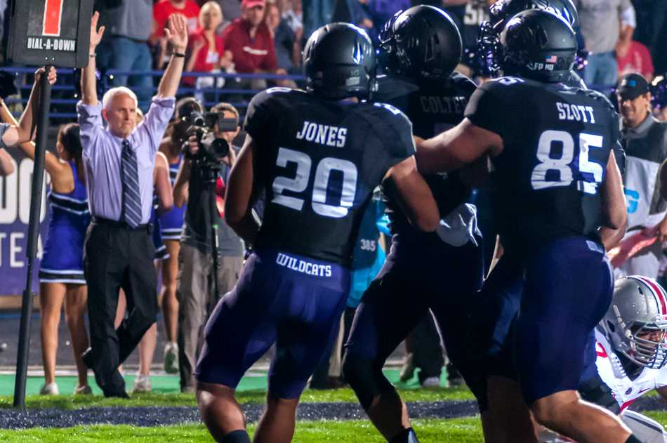 University President Morton Schapiro (pictured on the sideline during last year's game against Ohio State) recently missed his first home game as NU president for Yom Kippur. Schapiro named senior wide receiver Kyle Prater as his favorite Wildcats player.