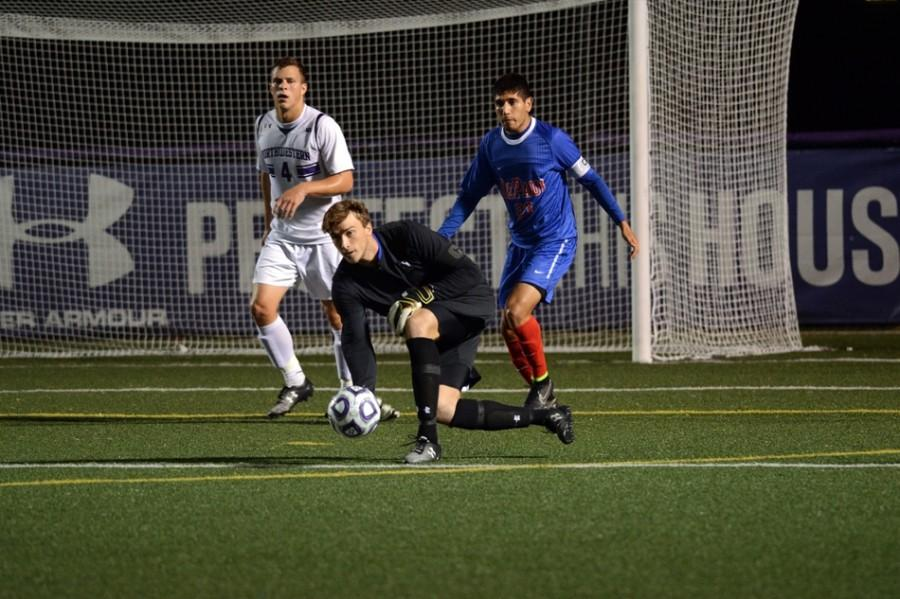 Despite+three+impressive+saves+from+Northwestern+senior+goalkeeper+Tyler+Miller%2C+the+Wildcats+lost+1-0+to+No.+9+Notre+Dame+on+Tuesday.
