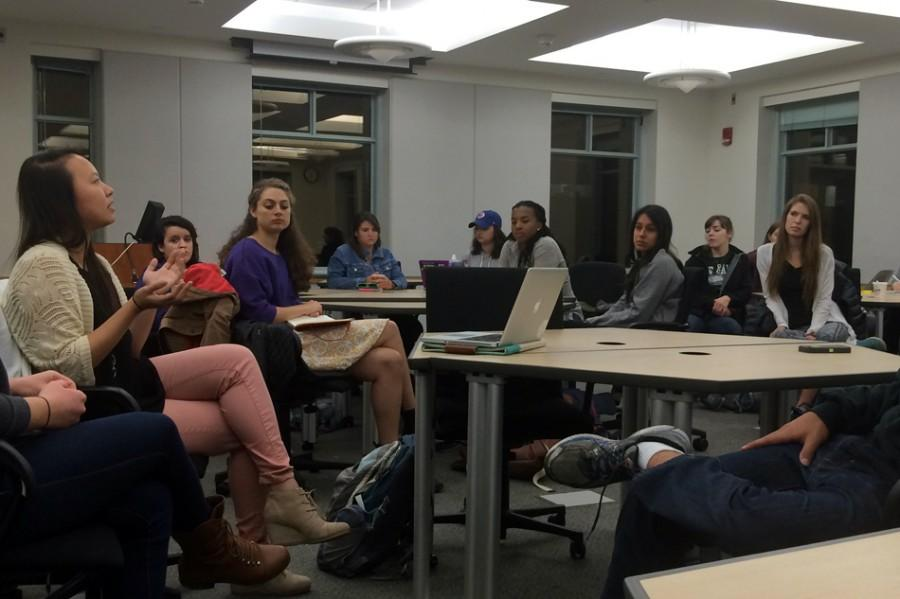 Representatives+from+student+groups+discuss+ways+to+increase+collaboration+to+avoid+over-programming.+The+event+was+hosted+by+NCDC%E2%80%99s+campus+outreach+team+Thursday+night+in+Annenberg+Hall.