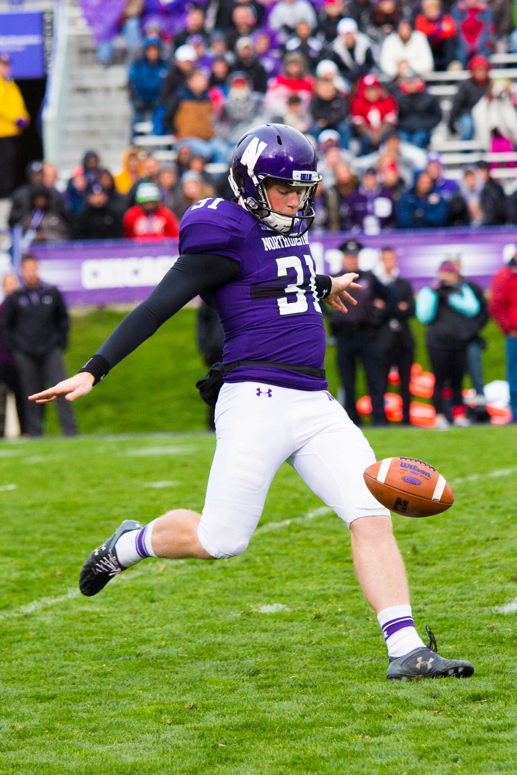 Junior punter Chris Gradone has come on strong during Northwestern's current three-game winning streak, consistently pinning opponents deep in their own territory.