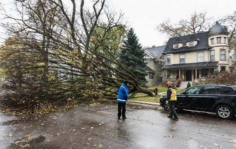 High winds affect Northwestern, city during Halloween