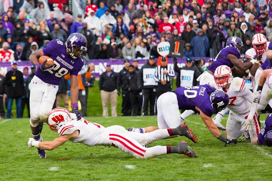 Running+back+Justin+Jackson+was+Northwestern%27s+best+offensive+player+Saturday.+The+freshman+rushed+for+162+yards+on+33+carries+in+the+Cats%27+20-14+win+over+Wisconsin.