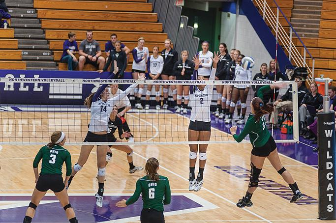 Freshman+Symone+Abbott+has+been+one+of+the+few+bright+spots+during+Northwestern%E2%80%99s+disastrous+road+trip.+After+falling+to+Iowa+in+five+sets+Saturday%2C+the+Wildcats+have+now+lost+four+straight+games.