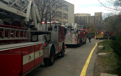 Fire breaks out in Kresge construction area