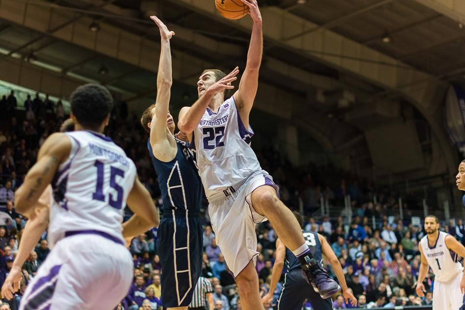 Junior Alex Olah says he has benefitted from the presence of fellow big man Jeremiah Kreisberg, who arrived from Yale this year for his senior season. Olah averaged 9.1 points and 5.2 rebounds last season.