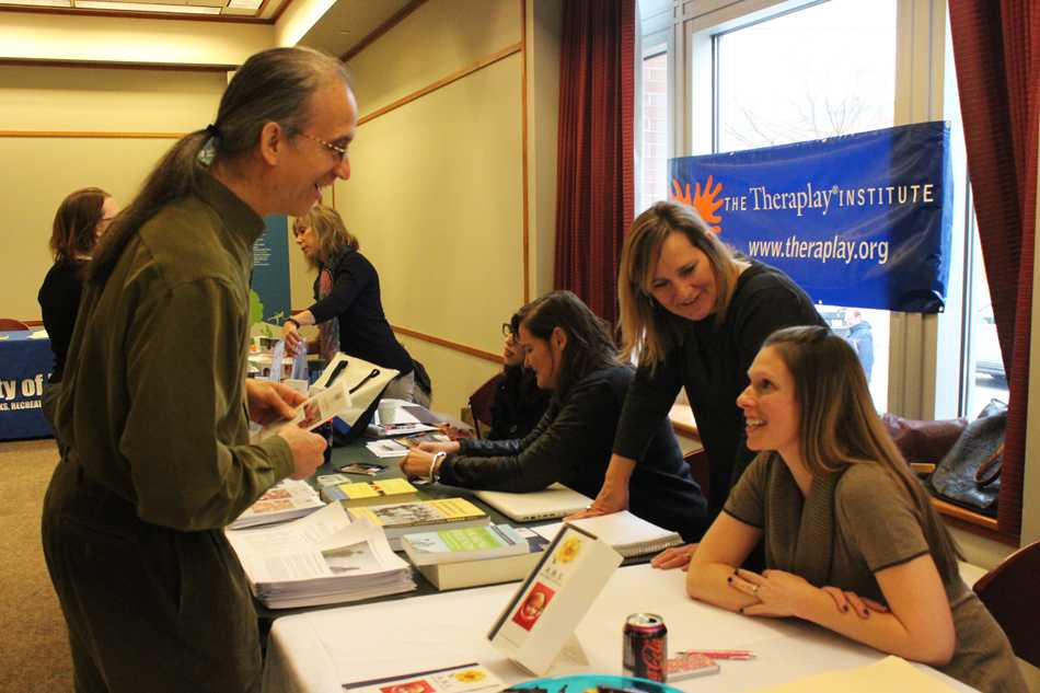 Companies speak to families with special needs about their services at the city's first Special Needs Family Resource Fair. Through the event, the companies were able to provide information to community families and network with similar organizations.