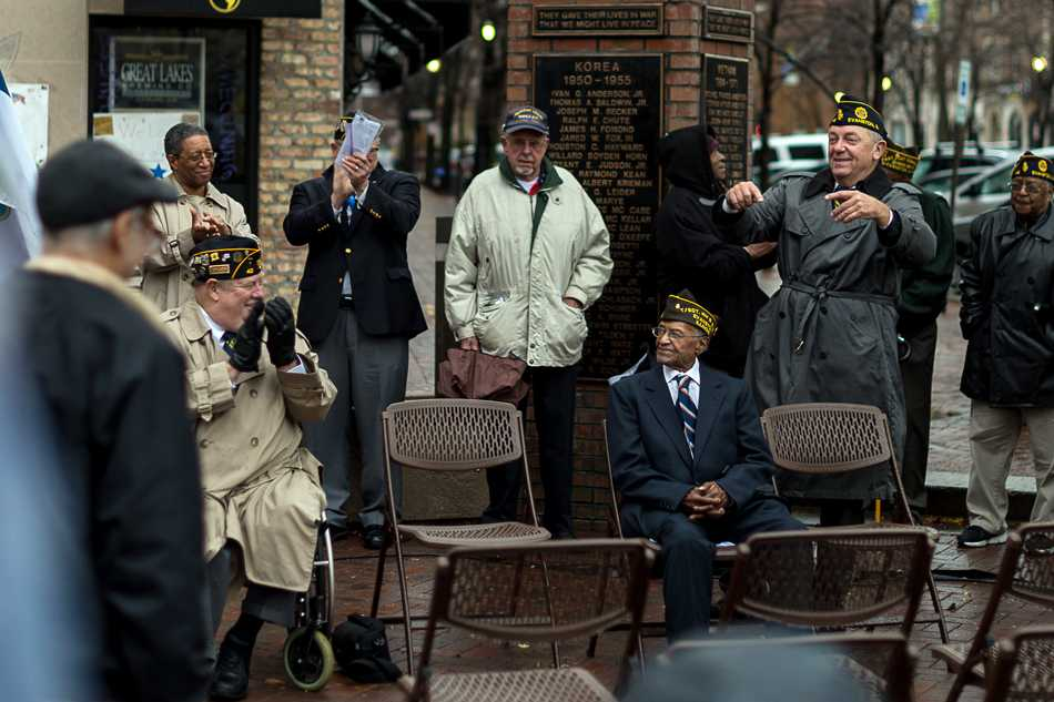 Carl Wilson, a 101-year-old World War II veteran, is honored at the city's annual Veterans Day ceremony. Wilson is one of about 1 million surviving World War II veterans, according to the National World War II Museum's website.