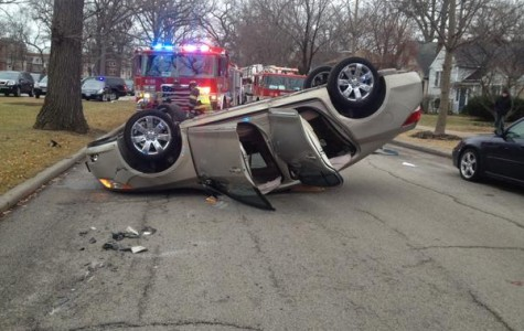 Evanston resident injured Wednesday in rollover car crash