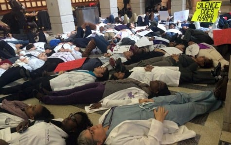 More than 100 students and faculty from Northwestern's Feinberg School of Medicine participate in a 4.5-minute