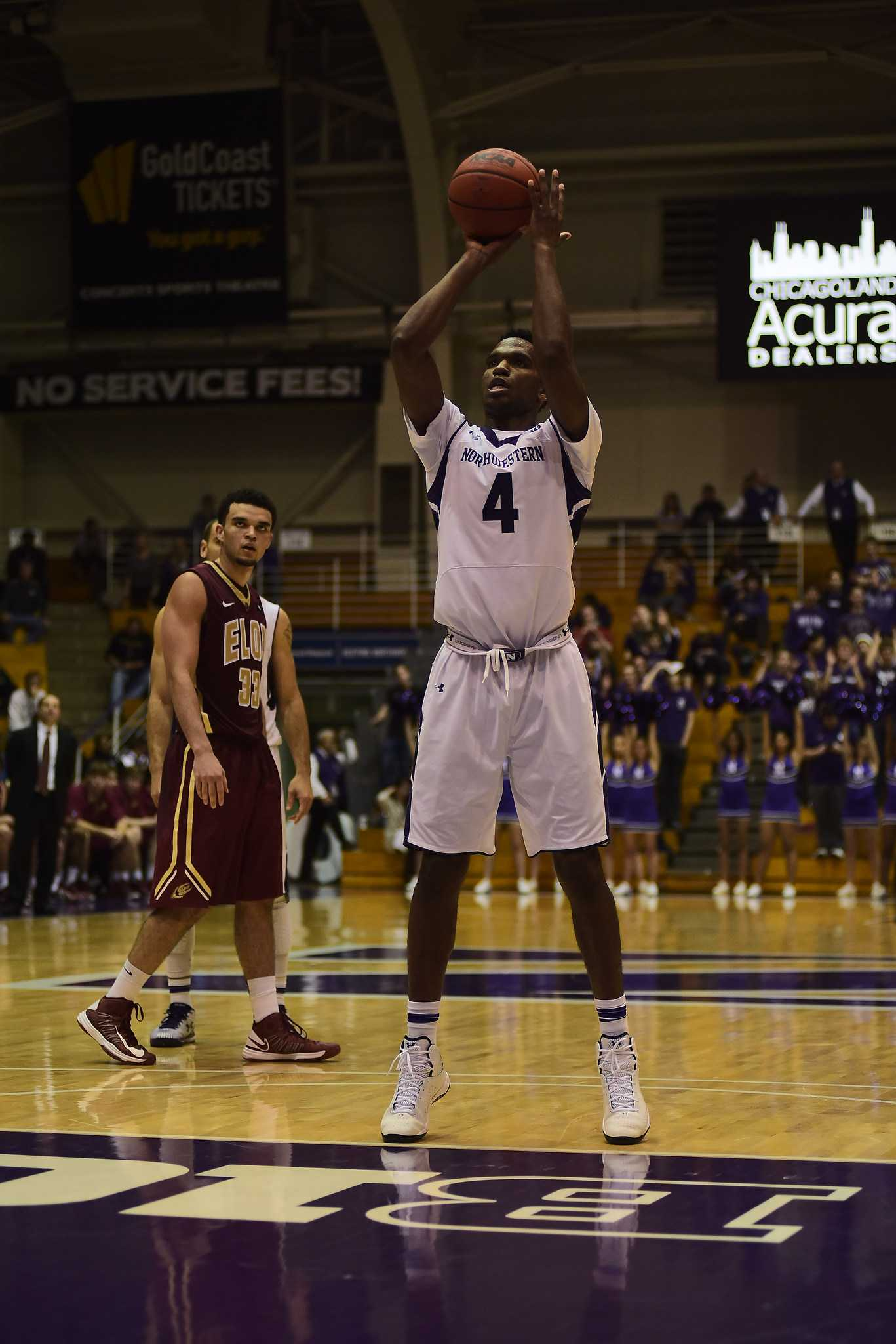 Forward Vic Law, one of two freshmen starting for Northwestern, said youth is no longer an excuse for the Wildcats.