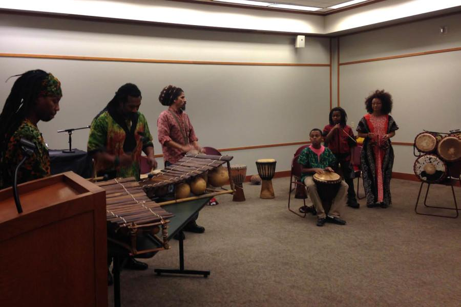 S.O.U.L. Creations Inc. performs at the 11 Months of African American History Wrap Up Celebration. The Evanston Public Librarys 11-month series ended today with a celebration that included dance and a reading from an August Wilson play.