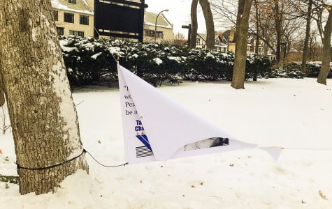 A banner hung by Wildcats for Israel and Tannenbaum Chabad House was torn in half near The Arch. The banner was allegedly vandalized Tuesday evening.