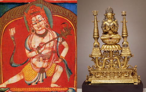 Block Museum of Art will display these two artifacts, a Crowned Buddha Shakyamuni statue and Thangka of Four-Armed Mahakala depiction, along with more than 40 others when the new exhibition opens Tuesday.