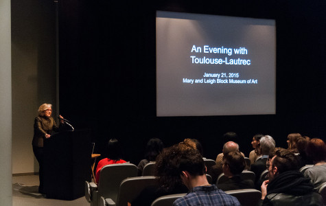 """""""An Evening With Toulouse-Lautrec"""" is introduced Wednesday night at the Block Museum of Art. The exhibit was curated by a Northwestern art history class through Fall 2014."""