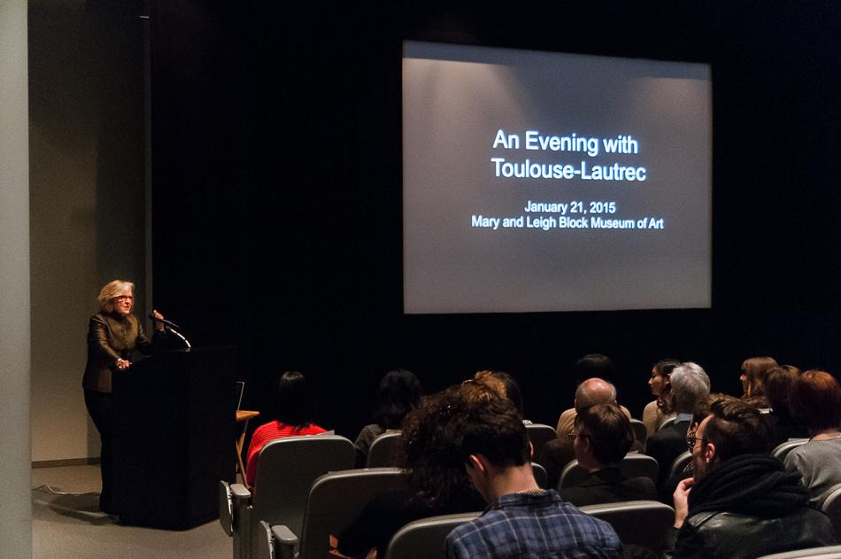"""An Evening With Toulouse-Lautrec"" is introduced Wednesday night at the Block Museum of Art. The exhibit was curated by a Northwestern art history class through Fall 2014."