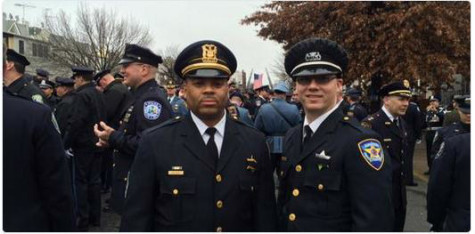 Evanston police officers attend funeral of slain New York police detective