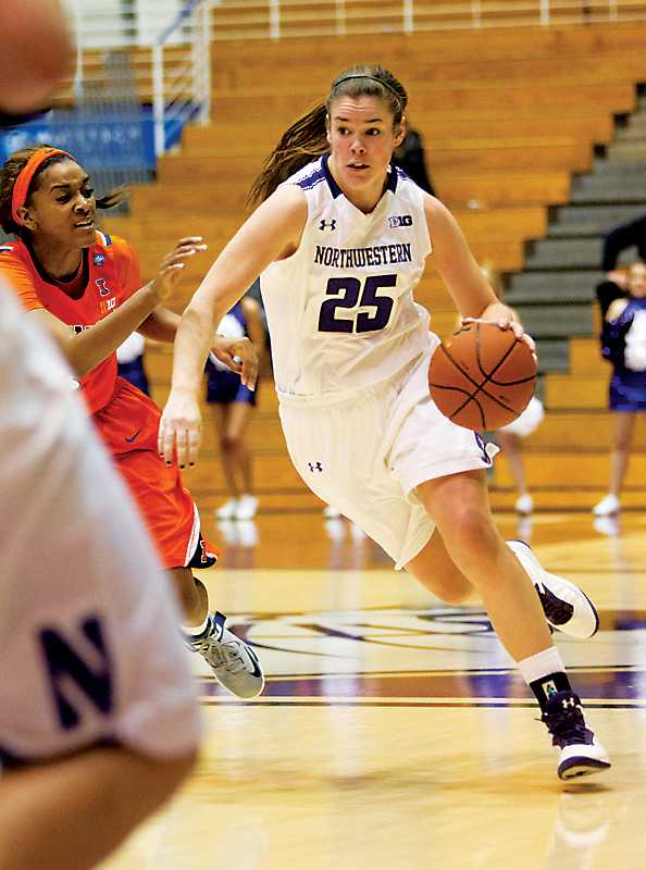 Maggie Lyon is second on Northwestern in scoring, with 12.6 points per game. The junior guard will be one of the leaders in the Wildcats' attempt to make it to the NCAA Tournament.