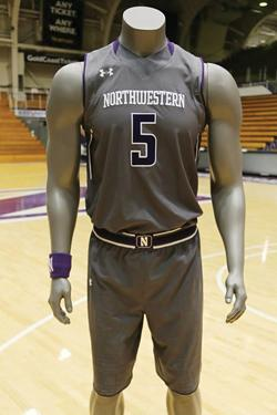 Northwestern's unveiled its new gray alternate uniforms Thursday. The Wildcats plan to debut the uniforms at home against Penn State on February 21.