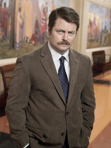 Nick Offerman plays Ron Swanson on the NBC comedy