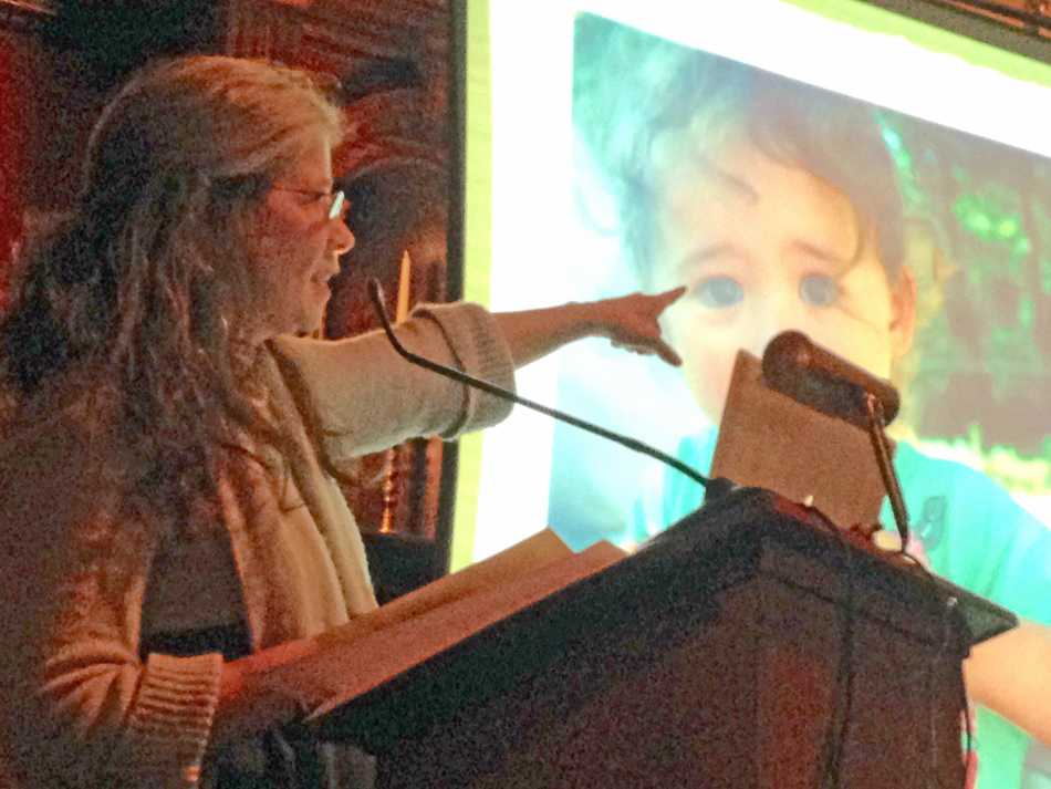 Author Terra Brockman speaks about her book on sustainable, small-scale farming at the Evanston History Center. Brockman described one year on her brother's central Illinois farm, Henry's Farm, which sells produce at the Evanston Farmers Market.