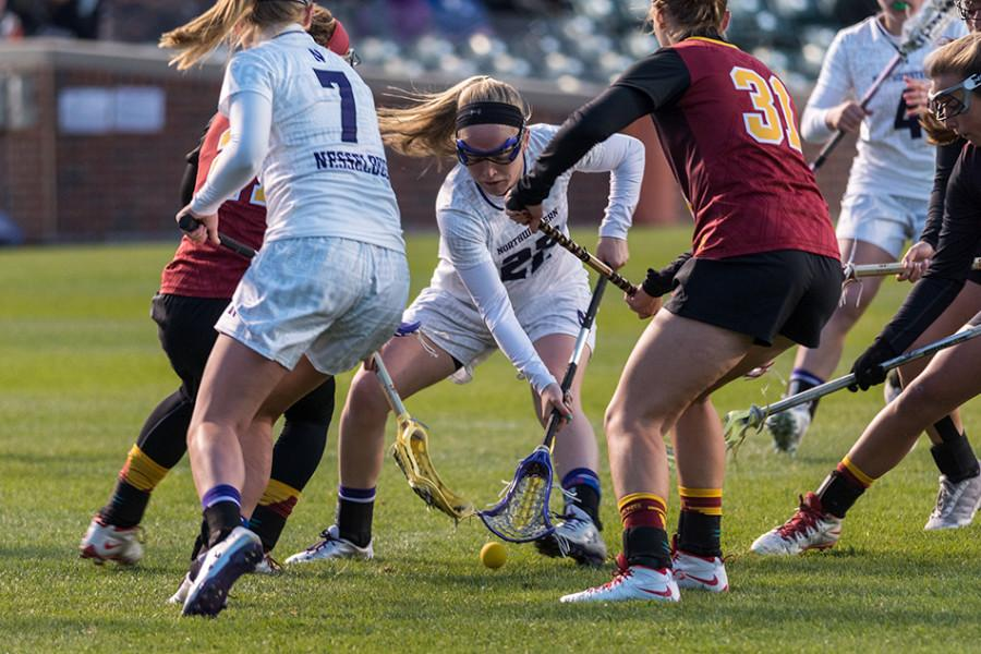 Northwestern could not buy a goal, or a stop, early on against the Trojans, falling into a 7-0 hole in the first 23 minutes of the contest. The Wildcats then kicked on the afterburners, using a three-headed scoring attack to eventually overtake Southern California 12-11 in overtime.