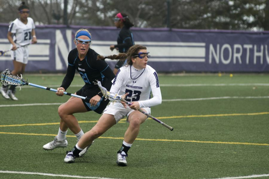 Junior Lauren Murray was one of several Wildcats who took the draw against Duke. Northwestern is still searching for answers at draw control, evidenced by the Blue Devils' 17-9 advantage in that category on Thursday.
