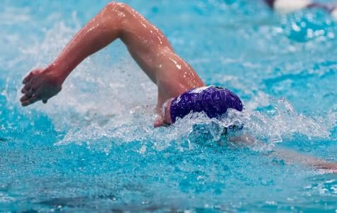 Northwestern slashes through the water. The Wildcats have taken a relaxed approach ahead of Wednesday's Big Ten Championships.