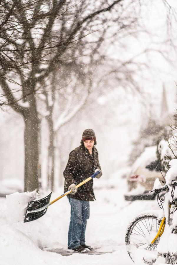 Evanston declared a snow emergency for both Monday and Tuesday after 20 inches of snow fell Sunday night. All public schools in Evanston closed Monday, but Northwestern remained open.