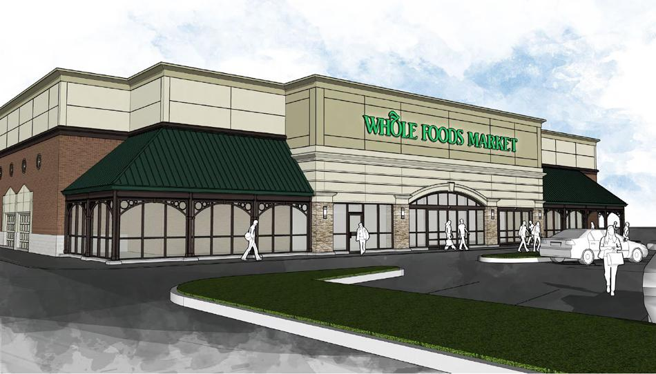 The incoming Whole Foods, 2748 Green Bay Road, is seeking licensing to include a bar on the premises. The store, depicted above in a rendering, has submitted proposals to the city and plans to open in July 2015.
