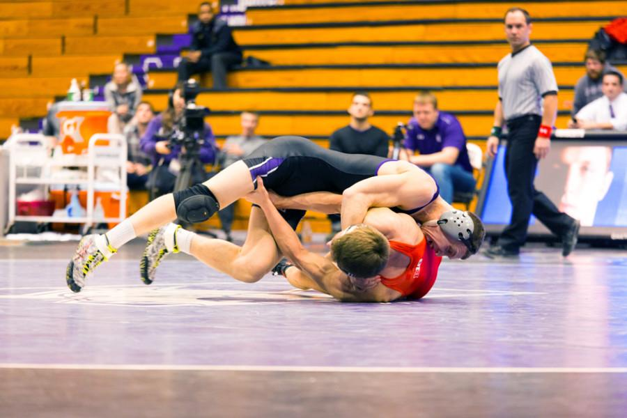 Northwestern+takes+the+initiative+against+Nebraska.+The+Wildcats%E2%80%99+home+advantage+did+the+team+little+good+on+Friday+night%2C+as+NU+won+just+three+bouts+on+the+way+to+a+25-11+overall+loss.+