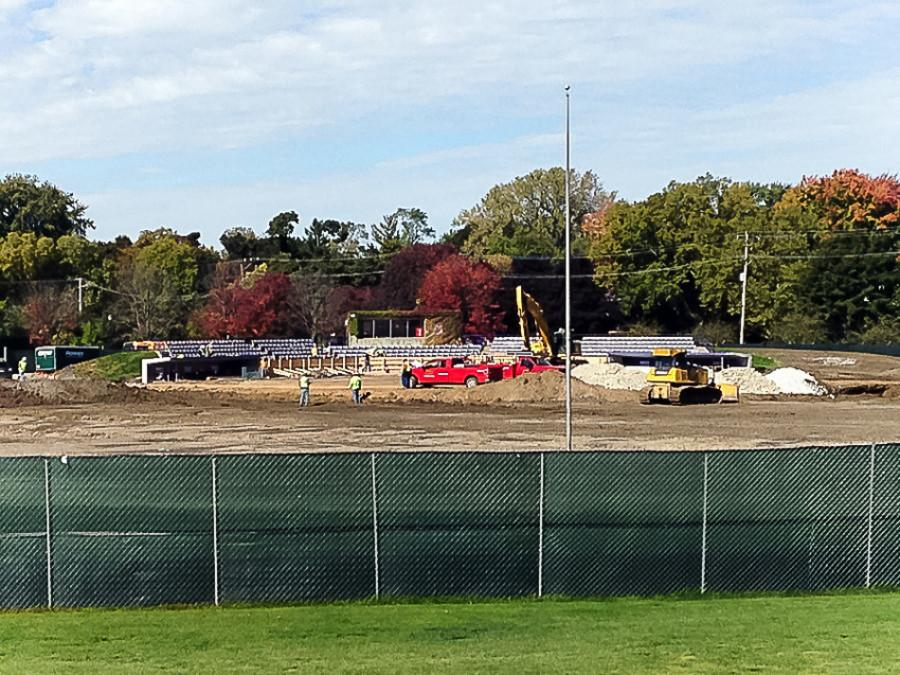 Renovations to Rocky Miller Park, pictured here in October, will include a new turf playing surface. Delays could threaten Northwestern's first home game April 1.