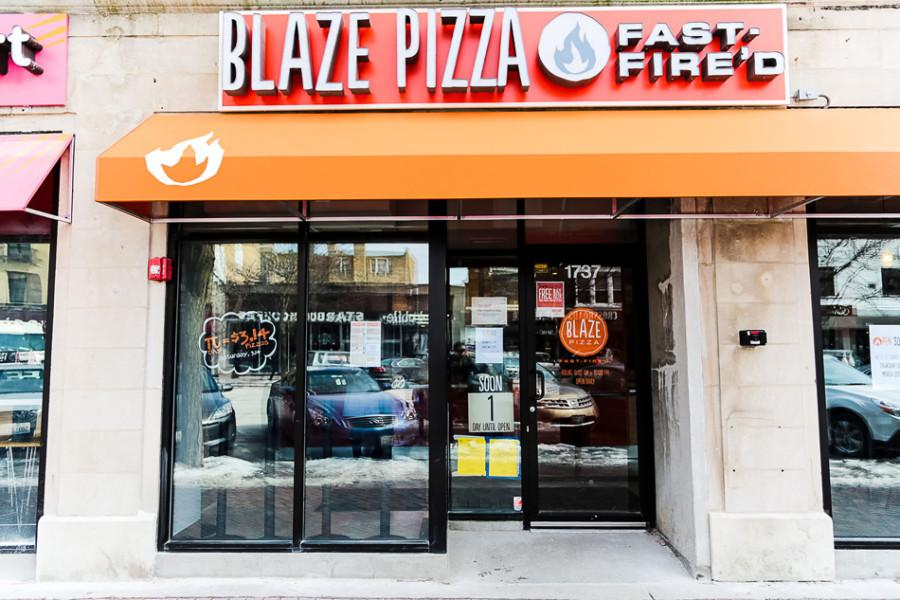 Blaze Fast-Fire'd Pizza, 1737 Sherman Ave., will open Thursday. The quick-service pizza restaurant uses a build-your-own, assembly-line format.