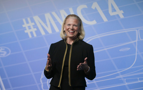 IBM president and CEO Virginia Rometty (McCormick '79) speaks at the Mobile World Congress in 2014. Rometty will give the 2015 main commencement address at Northwestern.