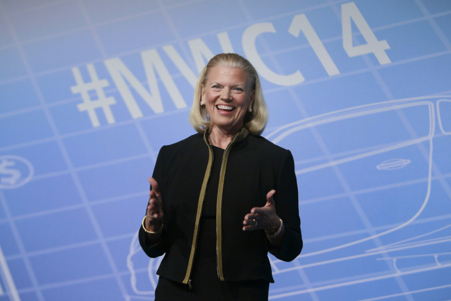 IBM+president+and+CEO+Virginia+Rometty+%28McCormick+%2779%29+speaks+at+the+Mobile+World+Congress+in+2014.+Rometty+will+give+the+2015+main+commencement+address+at+Northwestern.