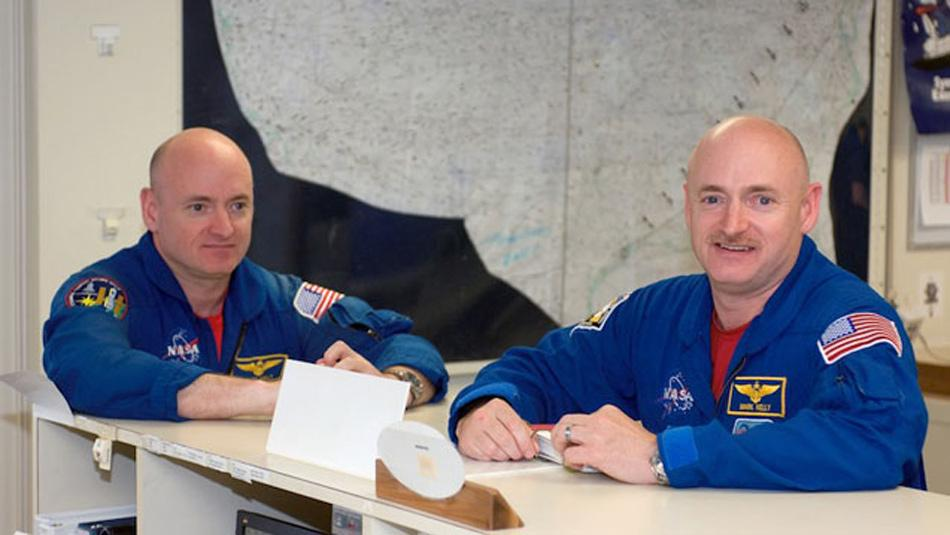 Northwestern researchers will study the effects of living in space for a year by studying a set of twins. Scott Kelly (left) will spend a year in space while his twin brother, Mark Kelly (right), remains on Earth.