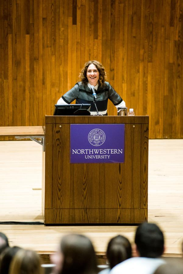 """Golden Globe winner and creator of Amazon's show """"Transparent"""" Jill Soloway speaks to the Northwestern community about her experience as a female filmmaker. She discussed the challenges filmmakers from minority groups face, sharing advice about pursuing career as a filmmaker."""