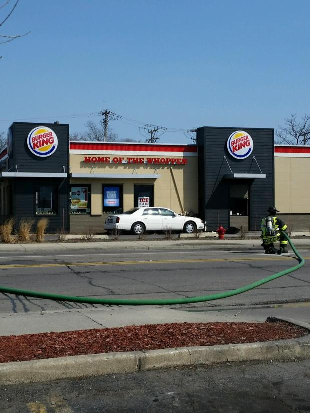 A 72-year-old woman crashed into an Evanston Burger King, 1829 Dempster St., Sunday morning. The accident caused a gas leak, but no one was injured.