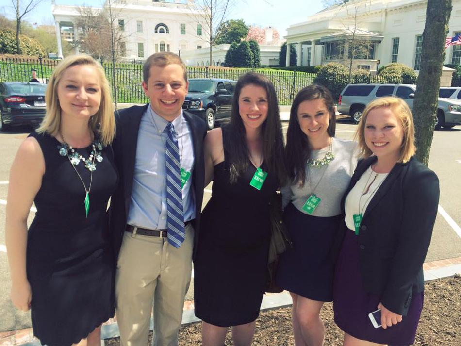 "Five Northwestern students discussed higher education policy reform at the White House on Monday. The students went to Washington as part of the Association of Big Ten Students' ""Big Ten on the Hill"" event."