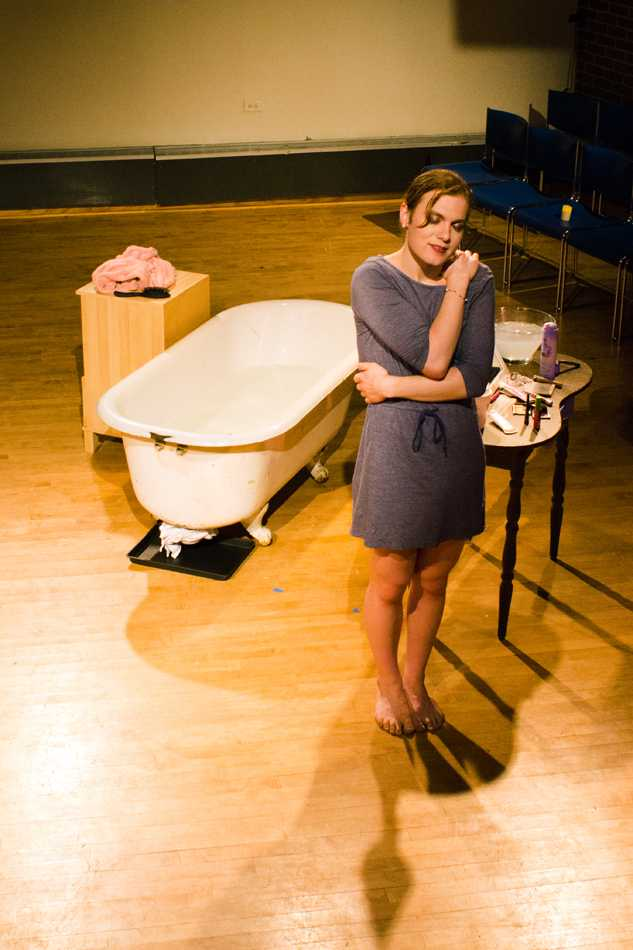 """Bea Cordelia stars in """"Chasing Blue,"""" an autobiographical play that she wrote. The performance premieres on Thursday in Jones Residential College."""