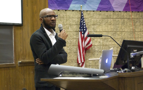 Novelist Teju Cole discusses 'white-savior industrial complex' for packed audience