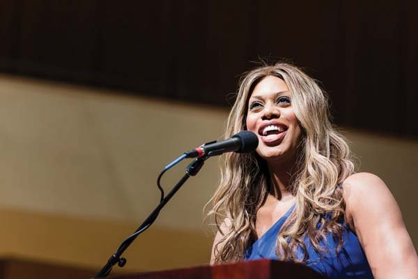 """Orange is the New Black"" actress Laverne Cox talks about race, gender and sexual identity on Tuesday to a packed Pick-Staiger audience. As A&O's spring speaker, the transgender LGBT advocate shared personal stories about discrimination."