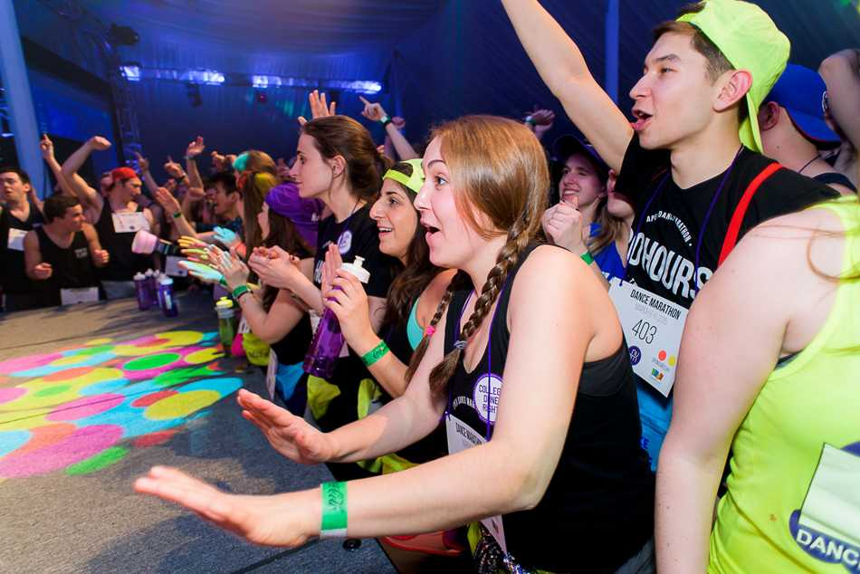 Students dance at this year's Dance Marathon. The new executive co-chairs announced changes to its executive board, including new community engagement co-chairs.