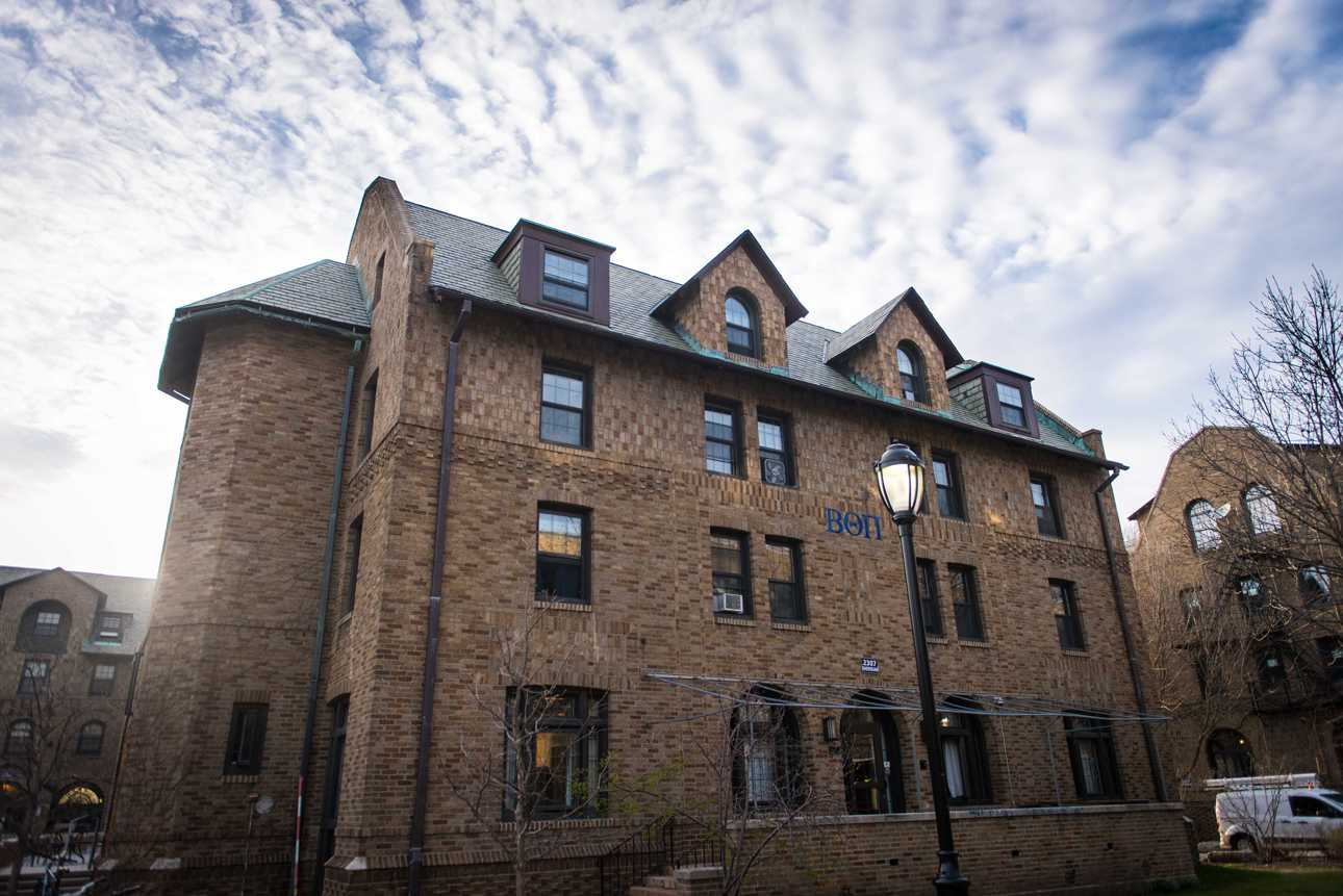 Beta Theta Pi is currently renting Delta Upsilon's house at 2307 Sheridan Road. Northwestern's DU chapter is returning to campus next year.